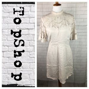 TopShop lace collar dress